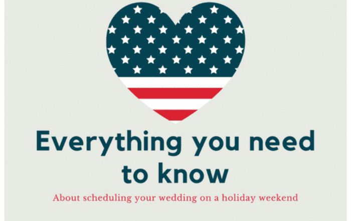 Scheduling A Holiday Wedding